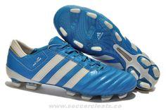 Blue Beauty/White/Silver adidas adiPURE III TRX FG Boots