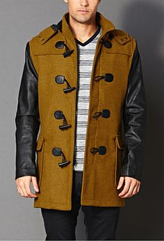 Hope this goes sale after christmas, i love it! Modernist Toggle Coat | 21 MEN - 2000089526
