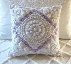Antique Chenille Pillows | Chenille pillow. Vintage fabric. | Quilt Ideas