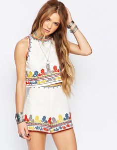 Because nothing says festival like a matchy embroidered co-ord