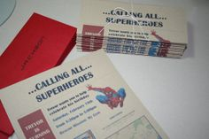 Spiderman Newspaper Birthday Invitation by hannahhuffman on Etsy, $12.00