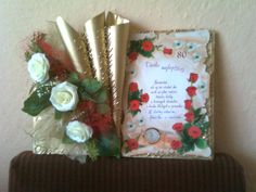 . Decoupage Tutorial, New Crafts, Old Books, Book Gifts, Book Design, Book Art, Gift Wrapping, Tractor, Handmade Cards