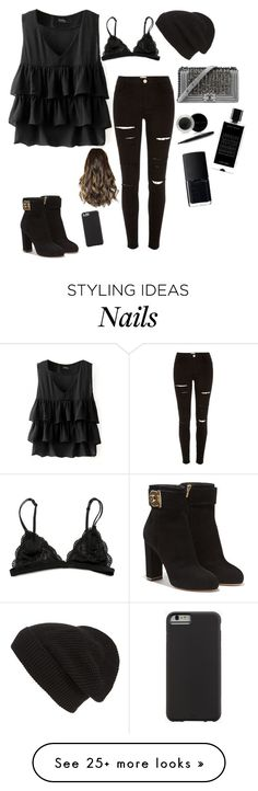 """""""Evil people watch out!!! Spy girl is here!!! """" by seals23 on Polyvore featuring Salvatore Ferragamo, River Island, Phase 3, Chanel, Mary Kay, Agonist, NARS Cosmetics and Case-Mate"""