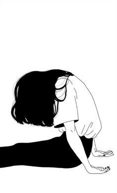 Trendy art drawings creative black and white Manga Girl, Anime Art Girl, Manga Anime, Manga Eyes, Art And Illustration, Illustrations, Aesthetic Art, Aesthetic Anime, Aesthetic Drawings