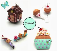 Juliart: Creaciones dulces con fimo Juliart: Polymer clay sweets