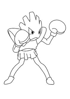 Strong Hitmonchan Pokemon coloring page. This Strong Hitmonchan Pokemon coloring page is the most beautiful among all coloring pages. Pikachu Kunst, Art Pikachu, Pokemon Tattoo, Pokemon Pokemon, Pokemon Coloring Sheets, Fighting Drawing, Lion King Movie, Cool Coloring Pages, Pictures To Draw