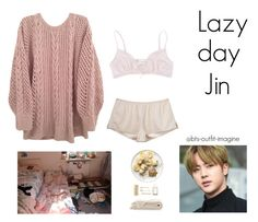 """""""lazy day with jin"""" by bts-outfit-imagine ❤ liked on Polyvore featuring art, simple, kpop, korean, bts and jin"""
