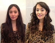 Transformação feita pelo visagista Leandro Pires na Beauty Fair 2013