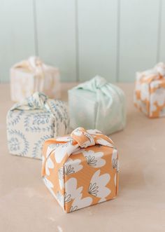 Fabric wrapped favor boxes