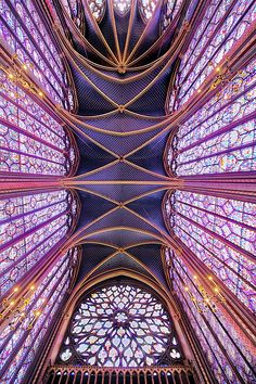 UndeR ControL # by Guillaume Rio on Sacred Architecture, Church Architecture, Concept Architecture, Beautiful Architecture, Architecture Design, Sainte Chapelle Paris, Saint Chapelle, Stained Glass Art, Stained Glass Windows