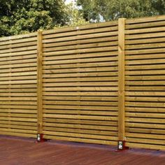 horizontal wood fence horizontal wood fence panel a unique wooden fence panels horizontal com the image kid horizontal wood fence designs Timber Fence Panels, Garden Fence Panels, Timber Fencing, Diy Fence, Backyard Fences, Wooden Fence, Wood Slats, Fence Ideas, Garden Walls