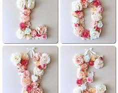Lettres d'amour mariage, lettres Floral, signe de mariage, décorations de mariage, décors de mariage