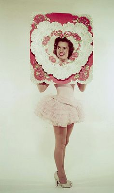Debbie Reynolds wishing everyone a happy Valentine's Day,1950.