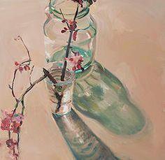 "Boyd Gavin ""Cherry Branch"" 2017 - oil on canvas Painting Inspiration, Art Inspo, Art Alevel, Aesthetic Painting, New Wall, Disney Art, Painting & Drawing, Photo Art, Modern Art"