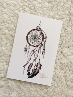 Indian Dream Catcher Print von MorgansCanvas auf Etsy