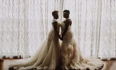 H&H Weddings ~ A wedding resource for gay, lesbian, bisexual, and transgender couples Lesbian Wedding, Lesbian Love, Wedding Vows, Wedding Photos, Dream Wedding, Wedding Dresses, Transgender Couple, Black Lesbians, Rainbow Aesthetic
