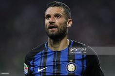 Antonio Candreva of FC Internazionale Milano looks on during the Serie A match between FC Internazionale and Udinese Calcio at Stadio Giuseppe Meazza on May 28, 2017 in Milan, Italy
