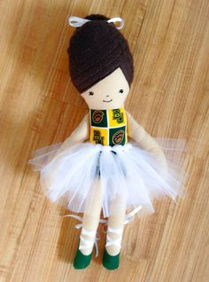Baylor Stuffed Doll // So sweet! And ensures your baby learns about Baylor as much as possible. #SicEm