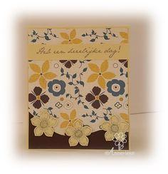Verjaardagskaart, bloemetjes van Stampin'Up! Petite Petals