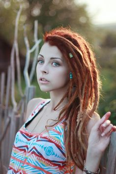Red Ombre Dreads