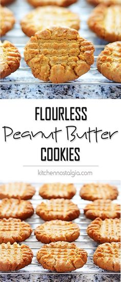 Easy Flourless Peanut Butter Cookies - everything you've dreamed of: full of peanut butter flavor, made with only 5 ingredients, gluten-free and dairy-free - by kitchennostalgia.com