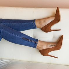 """1,781 Likes, 44 Comments - Lilly's Kloset (@lillyskloset) on Instagram: """"You're must have suede pump for Fall Shop the Trina in chestnut www.lillyskloset.net"""" #pumpsoutfit"""