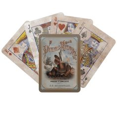 Civil War Drums & Trumpets Weathered Playing Cards