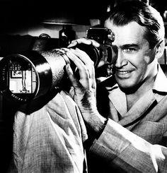 James Stewart. Shooting legs. Rear Window. '54.