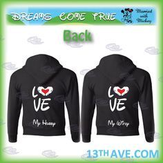 mickey minnie mouse disney matching couple tshirts, hoodies, zip up hoodies, crewneck for mr and mrs, girlfriend and boyfriend, 095 on Etsy, $45.40
