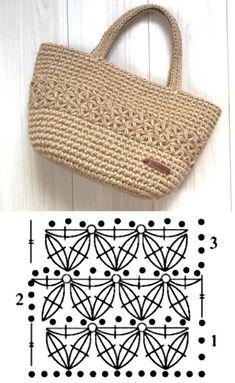 Escolha e copie: Modelos de bolsa Summer Bag ⋆ De Frente Para O Mar- Escolha e copie: Modelos de bolsa Summer Bag ⋆ De Frente Para O Mar - Crochet Market Bag, Crochet Tote, Crochet Handbags, Crochet Purses, Bead Crochet, Crochet Bag Tutorials, Diy Crafts Crochet, Crochet Purse Patterns, Knitting Patterns