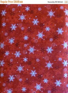 White Christmas ~Snowflakes~Cotton Fabric, Quilt,~Northcott~Fast ... : red quilts clearance sale - Adamdwight.com
