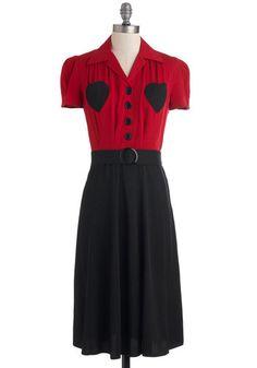 Retro Revamp Dress in Heart - 1940's Contrast Dress  $162.99  Store: ModCloth.com