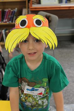 Ages 3-5. Our Finished Lorax Hats