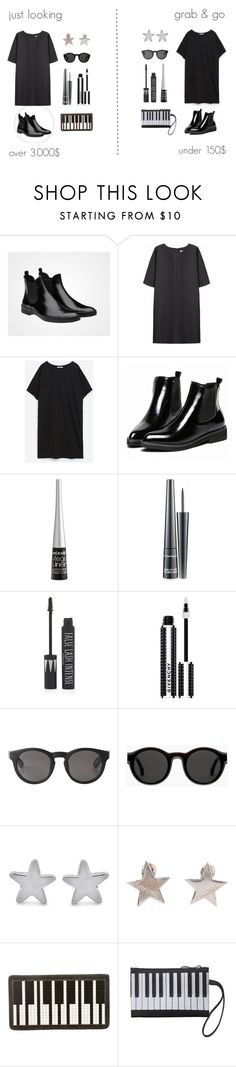 """""""simple black dress"""" by foundlostme ❤ liked on Polyvore featuring Non, Zara, Wet n Wild, MAC Cosmetics, Topshop, Givenchy, Monki, Mykita, George & Laurel and Chanel"""