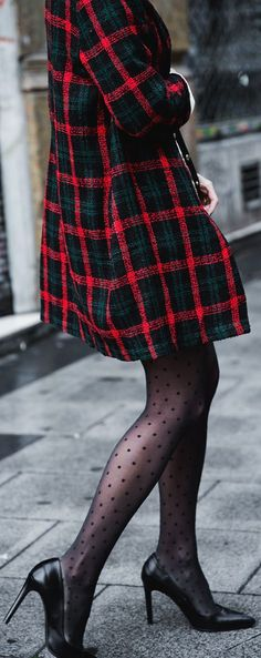 Love the dots and tartan combination, definitely getting some dotty tights to wear with tartan this Autumn/Winter!