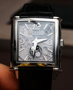 Girard-Perregaux Vintage 1945 XXL Large Date And Moon Phases Transparent Dial Watch
