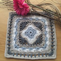 Make this beautiful afghan square with Vanna's Choice! Get the crochet pattern on Ravelry.