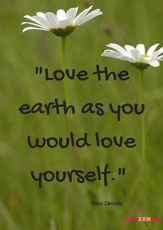-Love the earth as you would love yourself - Quotes for Earth Day