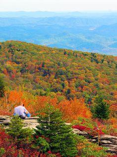 Photo spot on the Blue Ridge Parkway in the North Carolina mountains - Rough Ridge Trail