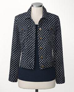 Just dots jean jacket - [K20307]
