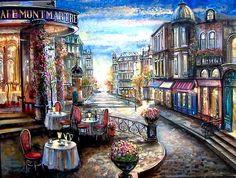 Café Montmartre ~ by Vadik Suljakov