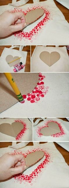 valentine fabric crafts DIY Cards for Kids Polka Dot Heart Card - 38 DIY Motherday Gifts Easy To Make Ideas Diy Pour Enfants, Diy Mothers Day Gifts, Mothers Day Ideas, Morhers Day Gifts, Mothers Day Crafts For Kids, Mothers Day Cards, Mother Gifts, Heart Crafts, Mother's Day Diy