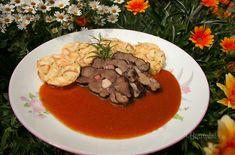 Kančí se šípkovou omáčkou Pancakes, Beef, Breakfast, Straws, Meat, Morning Coffee, Pancake, Steak, Crepes