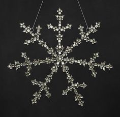 "Victorian Glass Grand Snowflake - 15""  #restorationhardware So beautiful - maybe next year!"