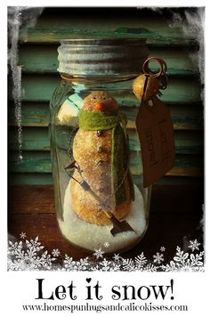 Primitive Canned Snowman ... Let it snow! by Homespun Hugs and Calico Kisses Primitives