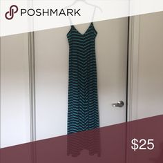 Striped sundress NWOT striped maxi sundress. navy/teal Puella Dresses Maxi