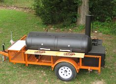 Custom Outdoor Kitchen, BBQ Smoker trailers and cooling trailer packages built any way you want it. Bbq Smoker Trailer, Bbq Pit Smoker, Diy Smoker, Barbecue Pit, Bbq Grill, Trailer Smokers, Homemade Smoker, Custom Bbq Smokers, Custom Bbq Pits