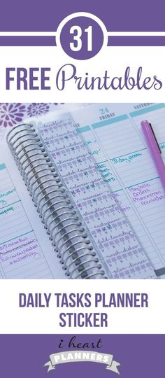 Free printable daily checklist printable for life planners. I use it on an Erin Condren bookmark that fits perfectly in my Plum Paper planner.