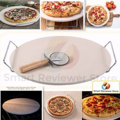 Pampered Chef Pizza Stone 14.75Inc Natural Baking Pizza Stone with Rack For Oven #GoodCook