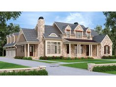 086H-0095: Two-Story Luxury House Plan